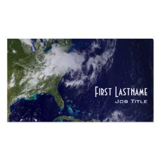 Tierra - hemisferio occidental tarjetas de visita