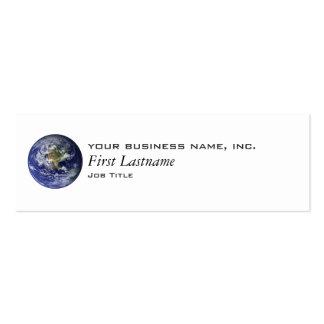 Tierra - hemisferio occidental tarjetas de visita mini