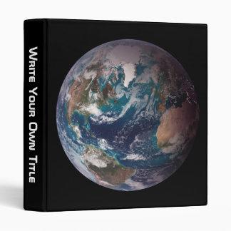 """Tierra: Hemisferios occidentales (delantero) y del Carpeta 1"""""""
