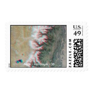 Tierra Himalaya 3D de la NASA Timbres Postales