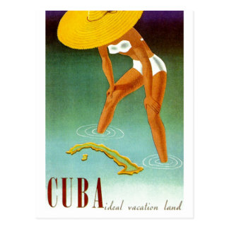 Tierra ideal de las vacaciones de Cuba del vintage Tarjetas Postales