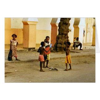 Tierra india del juego de la escuela tarjeta de felicitación