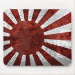 Tierra japonesa del vintage de Japón del sol nacie Tapete De Ratones