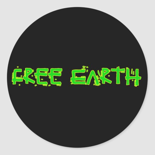Tierra libre pegatina redonda