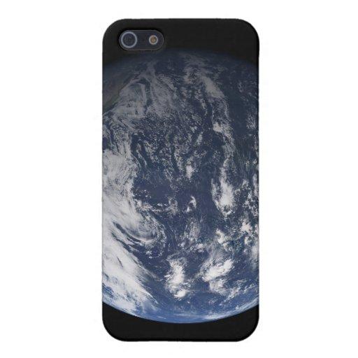 Tierra llena centrada sobre el Océano Pacífico iPhone 5 Funda