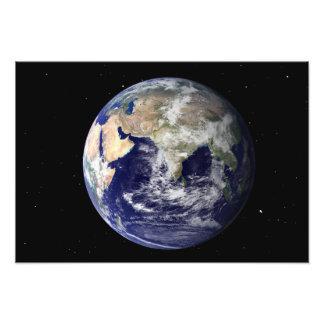 Tierra llena que muestra Europa y Asia Fotografía