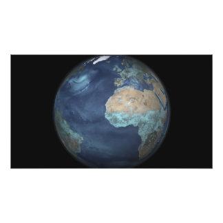 Tierra llena que muestra la evaporación impresión fotográfica