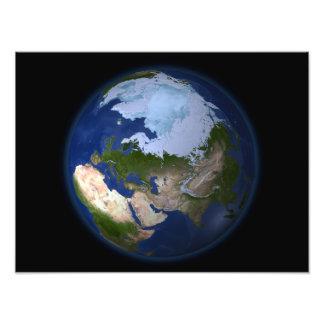 Tierra llena que muestra la región ártica cojinete