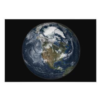 Tierra llena que muestra Norteamérica 2 Cojinete