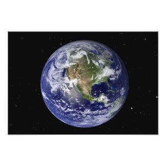 Tierra llena que muestra Norteamérica Fotografías