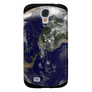 Tierra llena que muestra Norteamérica y Amer del Funda Para Galaxy S4