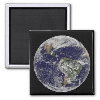 Tierra llena que muestra Norteamérica y Amer del Imán Cuadrado