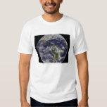Tierra llena que muestra Norteamérica y Amer del Poleras