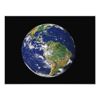 Tierra llena que muestra Suramérica 2 Fotografía