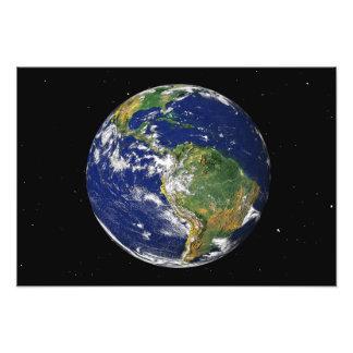 Tierra llena que muestra Suramérica Fotografías