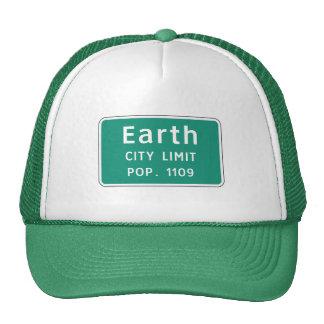 Tierra, marcador del camino, Tejas, los E.E.U.U. Gorros Bordados