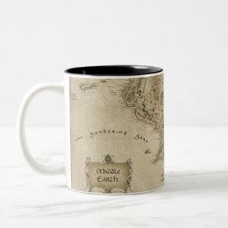 Tierra media tazas de café