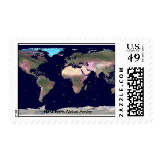 Tierra Mosiac global de la NASA Estampillas
