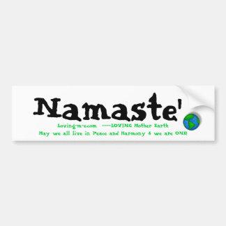 tierra, Namaste', Loving-m-e.com  ----Mot de AMOR… Etiqueta De Parachoque