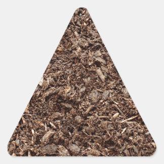 Tierra natural pegatinas triangulo personalizadas