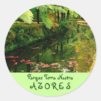 Tierra Nostra, Azores Pegatinas Redondas