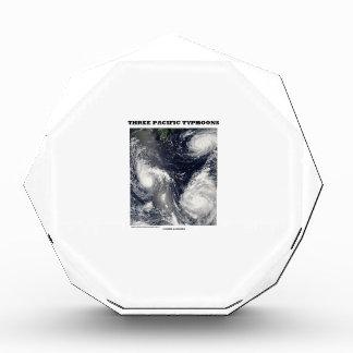 Tierra pacífica de la imagen de tres tifones