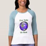 Tierra para la venta o el alquiler camisetas