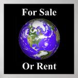 Tierra para la venta o el alquiler poster