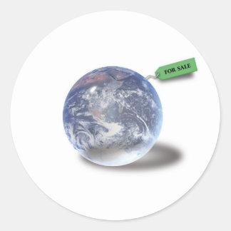 Tierra para la venta - pegatina Pensar-verde