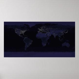 Tierra por noche póster