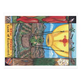 Tierra postal de New México del encantamiento