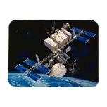 Tierra que está en órbita 10 de la estación espaci imanes de vinilo