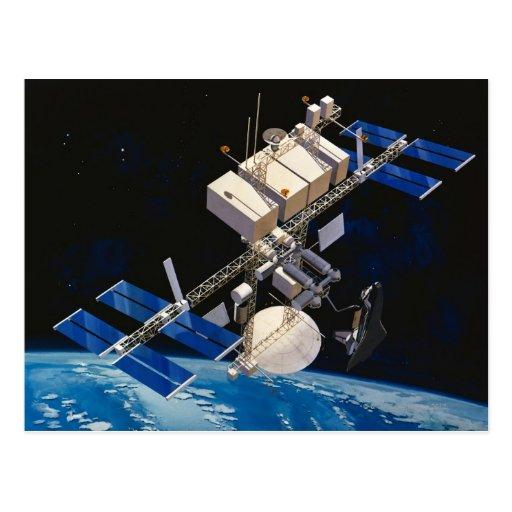 Tierra que está en órbita 10 de la estación espaci postales