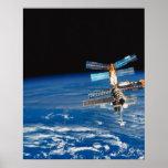 Tierra que está en órbita 3 de la estación espacia posters