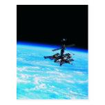 Tierra que está en órbita 7 de la estación espacia postal
