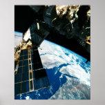 Tierra que está en órbita por satélite 5 posters