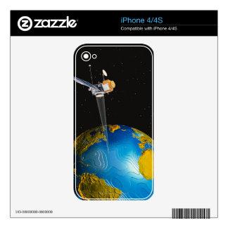 Tierra que está en órbita por satélite 6 iPhone 4S calcomanías