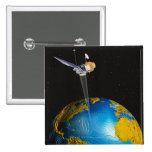 Tierra que está en órbita por satélite 6 pin cuadrada 5 cm