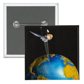 Tierra que está en órbita por satélite 6 pin cuadrado