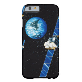 Tierra que está en órbita por satélite funda de iPhone 6 barely there