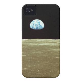 Tierra que sube sobre la luna iPhone 4 cárcasa