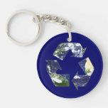Tierra - reciclando llavero