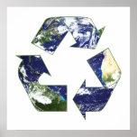 Tierra - reciclando posters