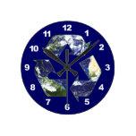Tierra - reciclando reloj de pared