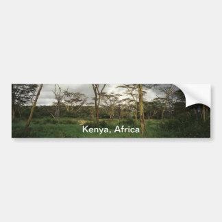 Tierra salvaje de África Kenia Pegatina De Parachoque