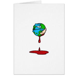 Tierra (sangría) tarjeta de felicitación