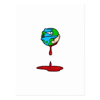 Tierra (sangría) tarjeta postal