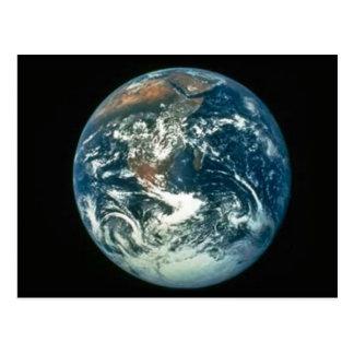 Tierra según lo visto de la luna tarjeta postal