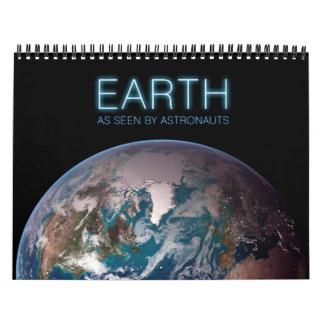 Tierra según lo visto por los astronautas calendario de pared