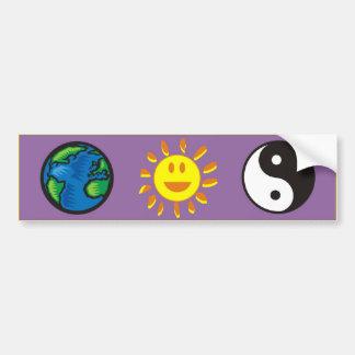 tierra-sol-yin yang pegatina de parachoque